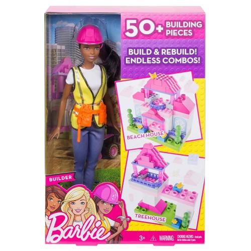 Barbie Builder Doll & Playset, Black Hair