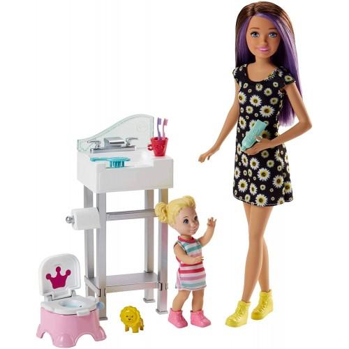 Barbie Skipper Potty Training Playset (Multicolour)