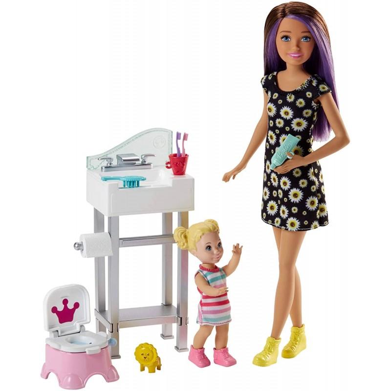 Barbie Skipper Potty Training Playset (Multicolour...