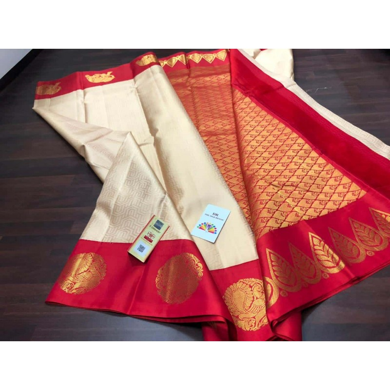 Pure Kanchipuram Soft Silk Saree - Red