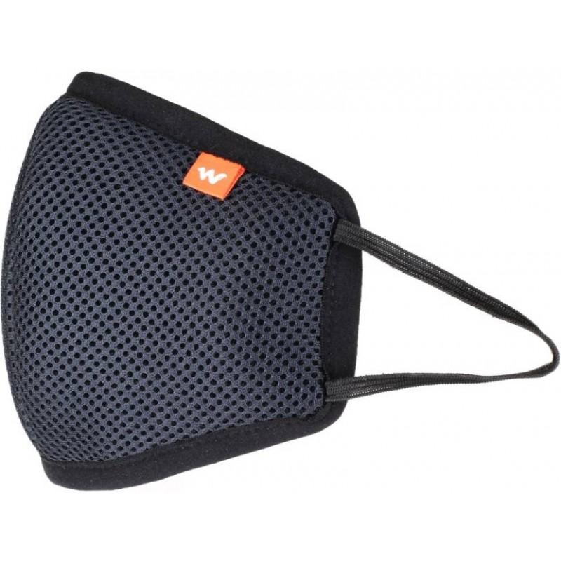 Wildcraft HypaShield Supermask reusable outdoor protection mask (Black, L)